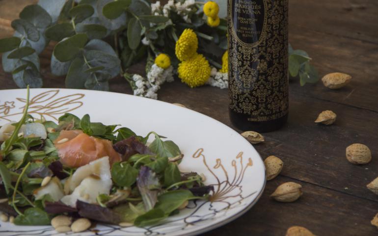 Smoked fish salad with Palacio Marqués de Viana Sublime Blend EVOO